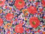 FLOWER MEDLEY NAVY - Fabric- POLY COTTON - Price Per Metre